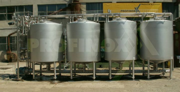Stainless steel piping for food and beverage industry